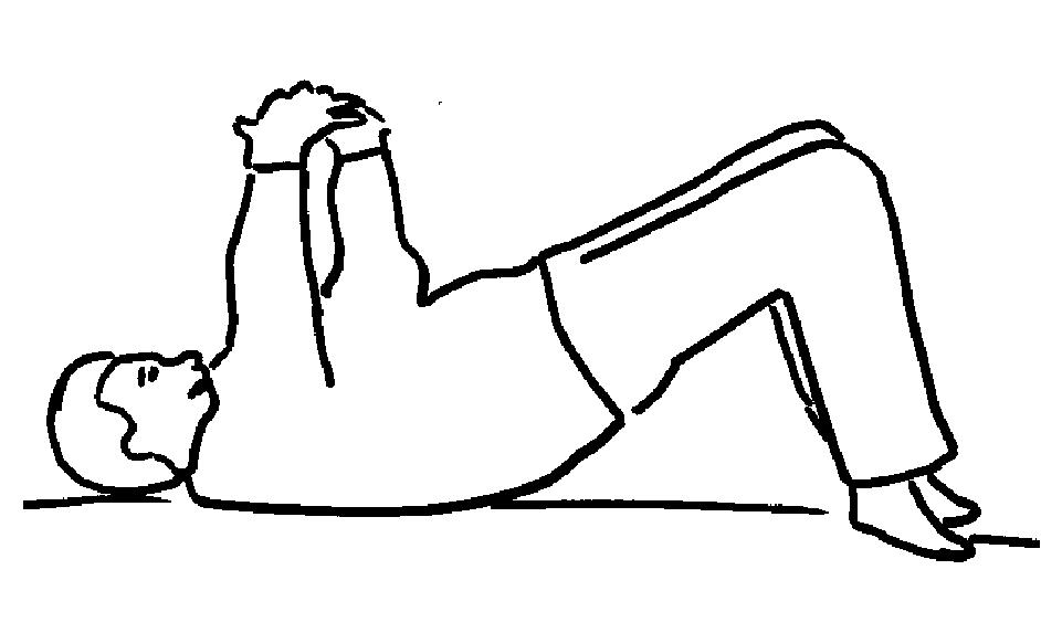 Abb.4: Beispiel einer Stressposition: Rückenlage